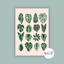 Postcard A6 leaf love by Frollein Schmid