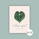 Postcard A6 I love you by Frollein Schmid