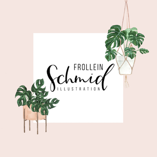 Postcard 148x148mm potted plants by Frollein Schmid