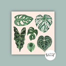 Poster 210x210mm leaves by Frollein Schmid