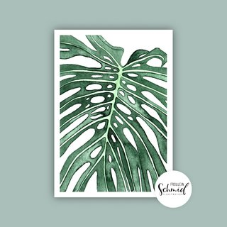 Poster A4 monstera by Frollein Schmid