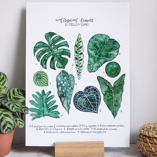 Artprint A4 tropical leaves by Frollein Schmid
