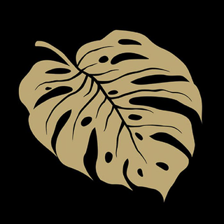 Monstera Gold/Black - Servietten 33x33 cm